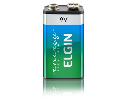 Bateria 9V Alcalina c/1 Elgin