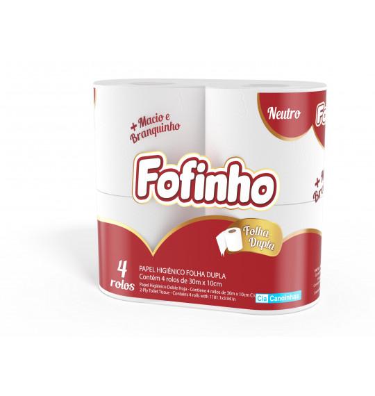 Papel Higiênico 30m c/4 Fofinho Neutro (F.Dupla)