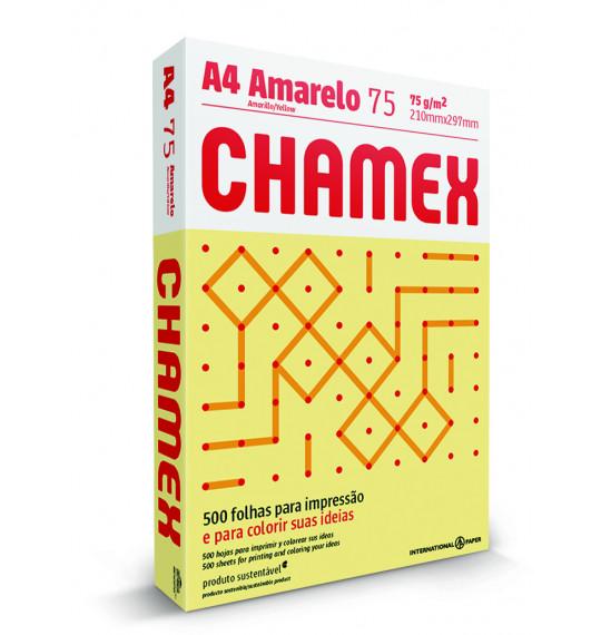 Papel A4 c/500fls 75g Amarelo Chamex
