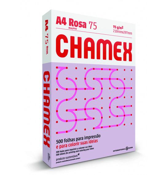 Papel A4 c/500fls 75g Rosa Chamex
