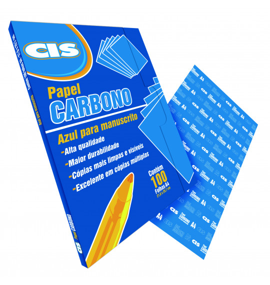 Papel Carbono Azul Cis