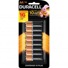 Pilha Alcalina AA Peq Cart C/16 Duracell