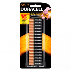 Pilha Alcalina AAA Palito Crt C/16 Duracell