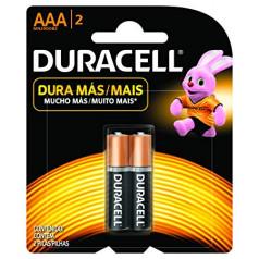 Pilha Alcalina AAA Palito Crt C/02 Uni Duracell