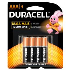 Pilha Alcalina AA Peq Cart C/04 Un Duracell