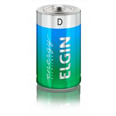 Pilha Alcalina D c/2 Elgin